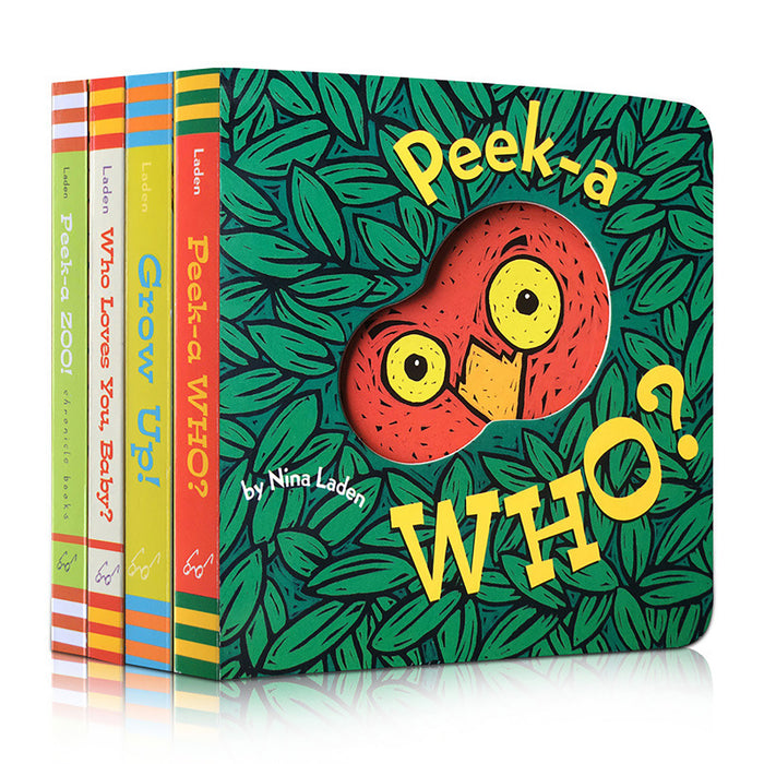 Truboo Peek-A-Who? Kids Board Book Children Interactive Reading By Laden, Nina