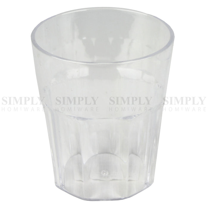 12x Plastic Tumblers Cups Glasses Tumbler Drinking Water Cold Clear Large Bulk - Simply Homeware