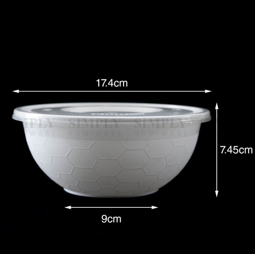 Take Away Food Containers Round Bowls Takeaway Plastic Soup Noodle Bulk 1050ml