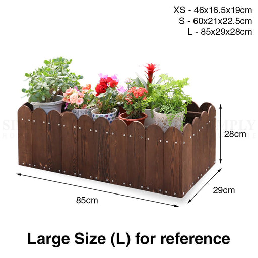 Flower Planter Wooden Box Crate Pot Stand Vegetable Plants Grow Garden Rectangle - Simply Homeware