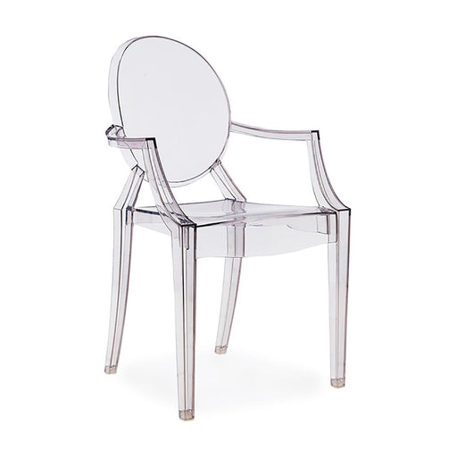 4x Replica Louis Ghost Chair Dining Armchairs Clear Philippe Starck Transparent - Simply Homeware