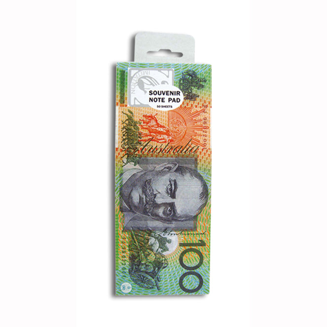 2x Australian Souvenirs Note Pad Money 50 Sheets Paper Stationary Aussie Gift AU - Simply Homeware