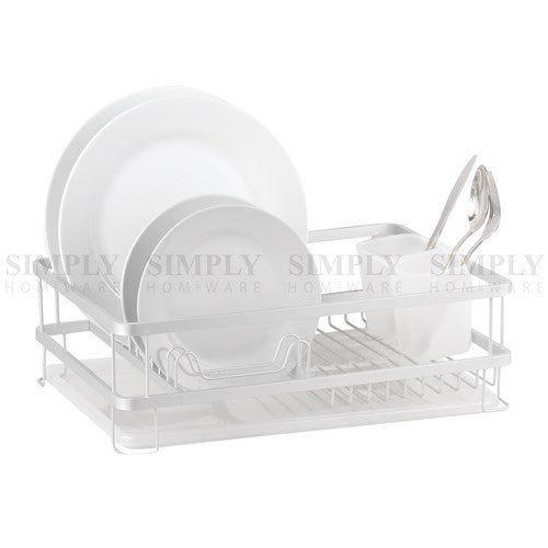 Aluminium Dish Rack Drainer 1/2 Tier Kitchen Plate Drying Cutlery Holder Tray - Simply Homeware