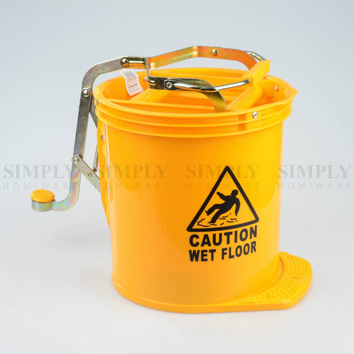 Mop Bucket Wringer Buckets 16L Heavy Duty Commercial Cleaning Supplies Home - Simply Homeware