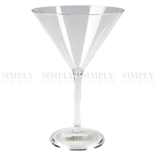 12x Plastic Wine Glasses Champagne Martini Drinking Glass Bulk Clear Reusable - Simply Homeware