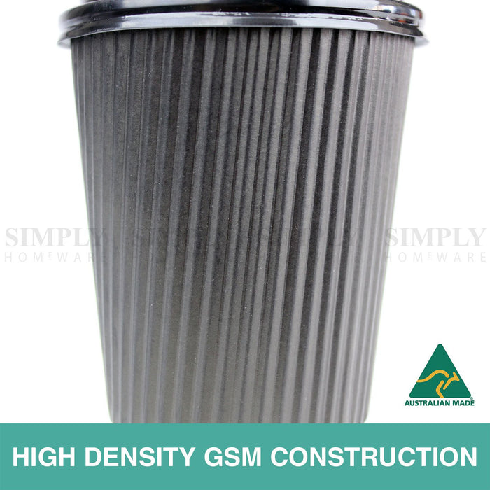 Disposable Coffee Cups 8oz 12oz 16oz Takeaway Paper Triple Wall Take Away Bulk - Simply Homeware