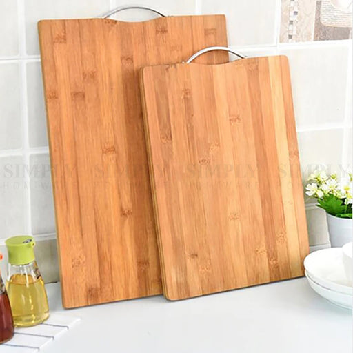 Bamboo Chopping Board Cutting Large Butchers Block Kitchen Chop Meat BPA Free - Simply Homeware