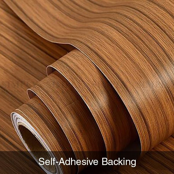 Wall Paper Rolls Marble Wood Brick Adhesive Home Wallpaper Decal Brown Stone - Simply Homeware