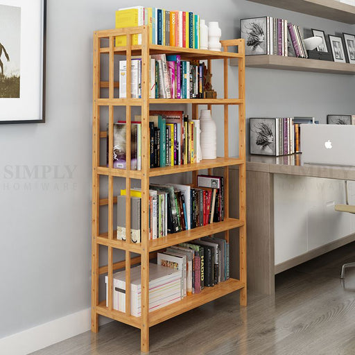Bamboo Kitchen Storage Shelf Rack Shelves Spice Bathroom Organiser Jar 345 Tier - Simply Homeware