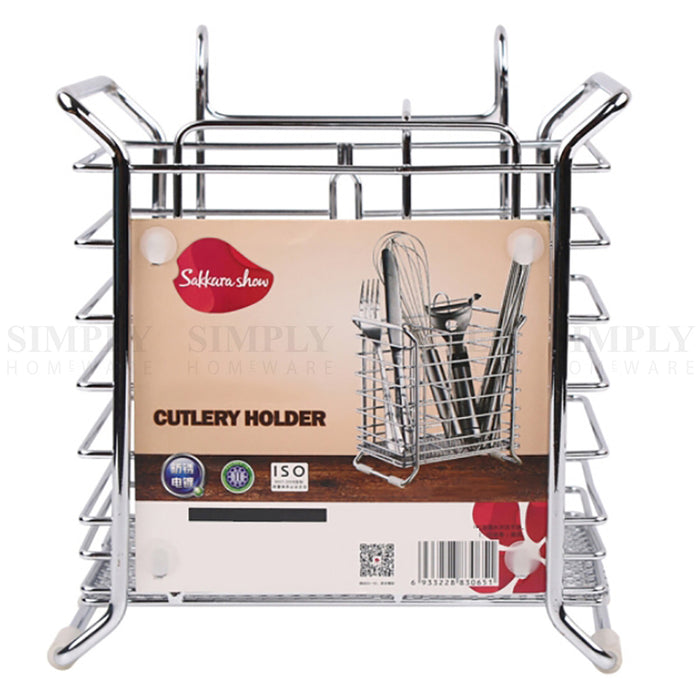Excellent Cutlery Drainer Chrome Holder Rack Utensil Metal Racks Drying Kitchen Sink Caddy Download Free Architecture Designs Philgrimeyleaguecom