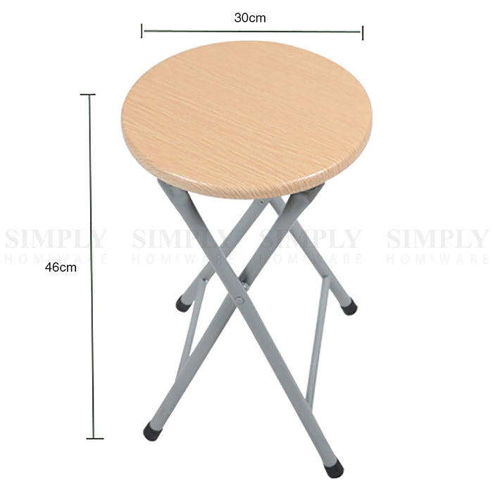 Foldable Bar Stool Wood Kids Children Chairs Bistro Indoor Outdoor Cafe Short - Simply Homeware