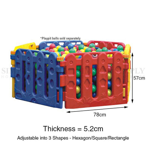 Baby Playpen Toddler Child Kids Play Pen Plastic Pit Fence Outdoor Fun 6 Panels - Simply Homeware