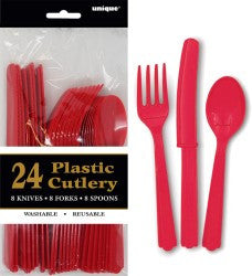 Solid Colour Party Plasticware - Entire Set , Party Supplies - Meteor, Simply Homeware - 49