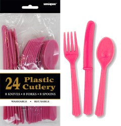 Solid Colour Party Plasticware - Entire Set , Party Supplies - Meteor, Simply Homeware - 10