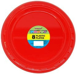 Solid Colour Party Plasticware - Entire Set Ruby Red, Party Supplies - Meteor, Simply Homeware - 51