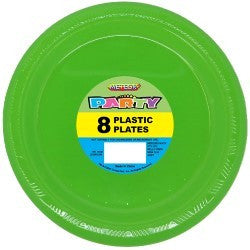Solid Colour Party Plasticware - Entire Set Lime Green, Party Supplies - Meteor, Simply Homeware - 19