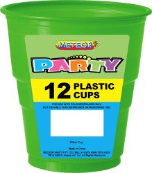 Solid Colour Party Plasticware - Entire Set , Party Supplies - Meteor, Simply Homeware - 20
