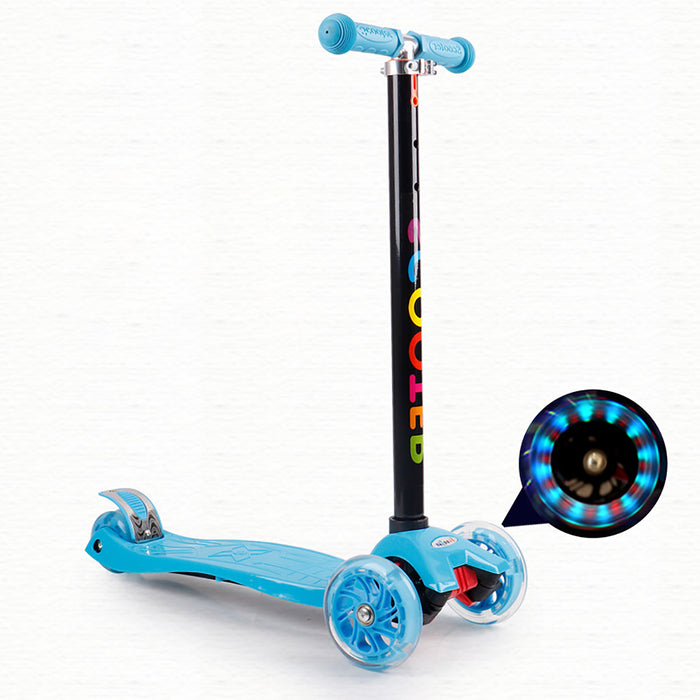 Truboo Kids Scooter T-Bar Kickboard Adjustable Height Frog-Type 3 & 4 Wheels