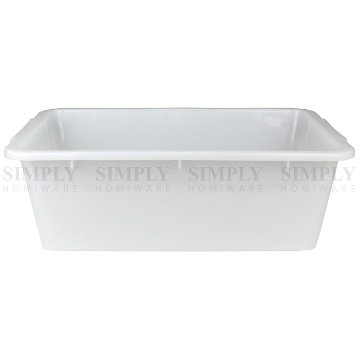2x Storage Tray Basket Plastic Organiser Trays Tub Container Organizer White - Simply Homeware