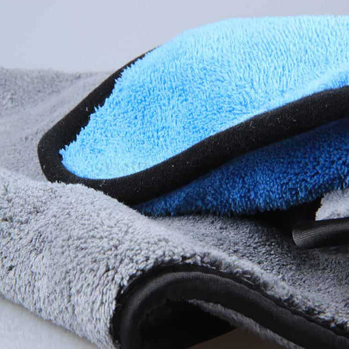 2x 1000GSM Microfibre Car Drying Towel Cleaning Cloth Microfiber Glass 62x30cm - Simply Homeware