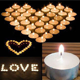 White Unscented Tealight Candles Bulk - 4 & 9 Hours , Candles - Simply Homeware, Simply Homeware - 3