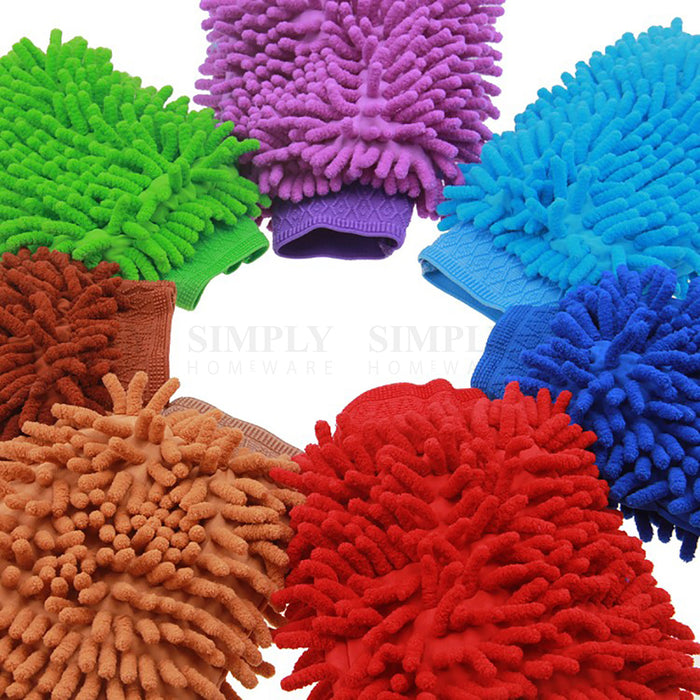 2800GSM Microfibre Car Wash Mitt Drying Glove Cleaning Microfiber Super Absorb - Simply Homeware