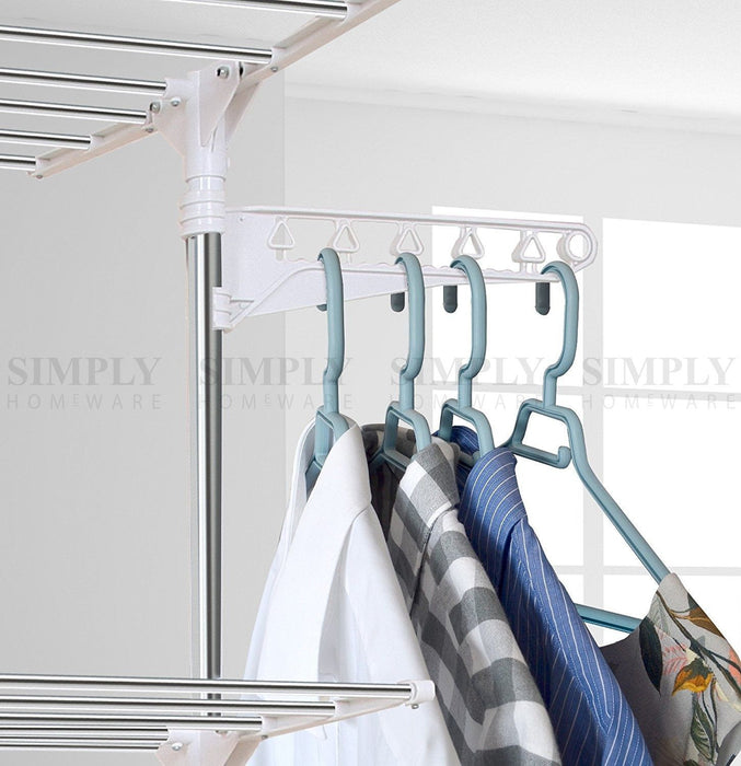 Clothes Line Airer Rack Indoor 3 Tier Steel 20m Drying Space Foldable Portable - Simply Homeware