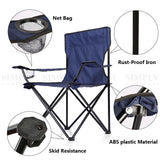 2x Folding Camping Chairs Portable Hiking Fishing Outdoor Travel Beach Picnic