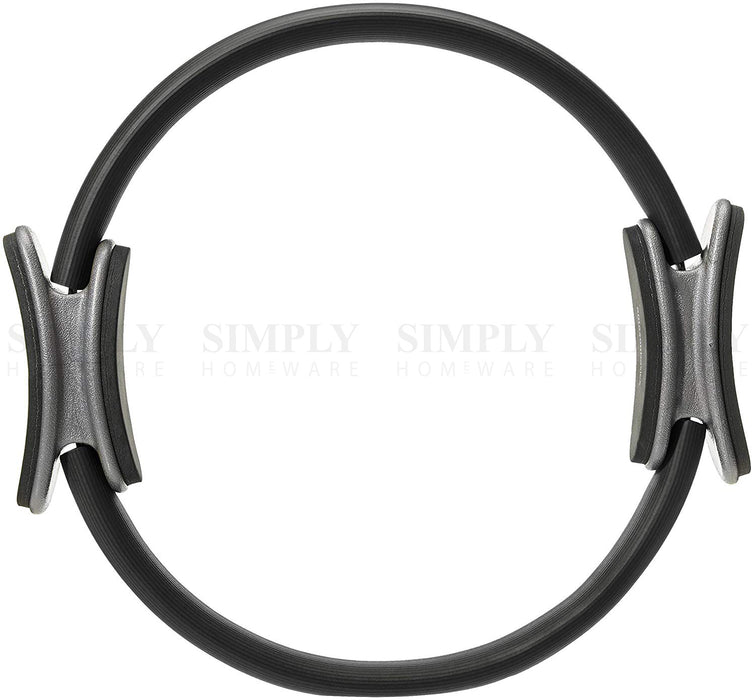 Pilates Ring Exercise Resistance Yoga Gym Rings Fitness Magic Circle Grip 37cm - Simply Homeware