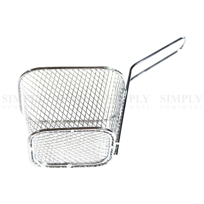 Fries Basket Stainless Steel 304 Mesh Chips Deep Fry Holder Metal Cafe Chef Mini - Simply Homeware