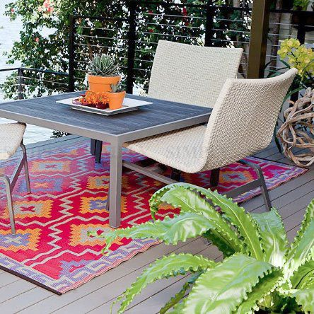 Outdoor Plastic Rug Mat Indoor Floor Protector Area Patio Camping Waterproof Red - Simply Homeware