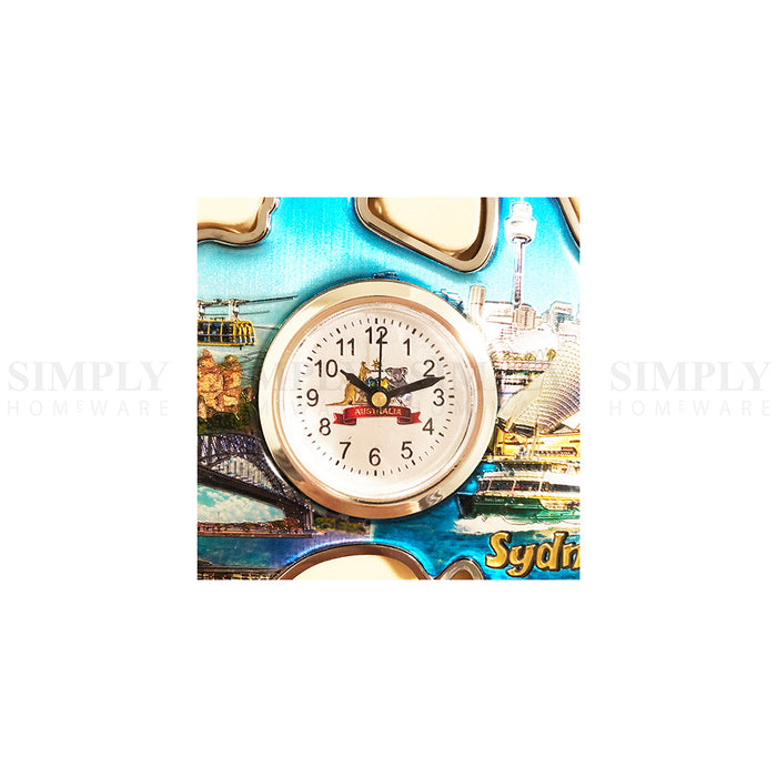 Australian Souvenirs Map Clock Movement Beside Foil Epoxy Aussie Gift Bulk AU - Simply Homeware