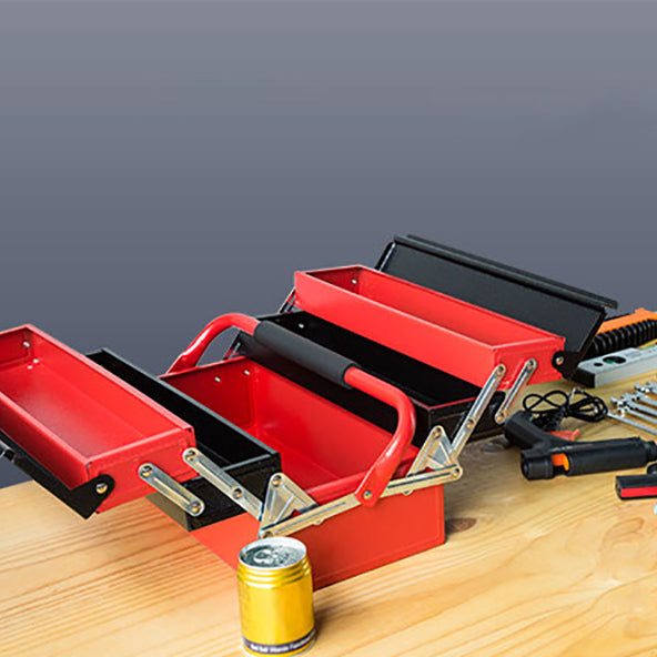 Cantilever Tool Box 5 Tray Storage Toolbox Metal Mechanic Chest Organiser Drawer - Simply Homeware