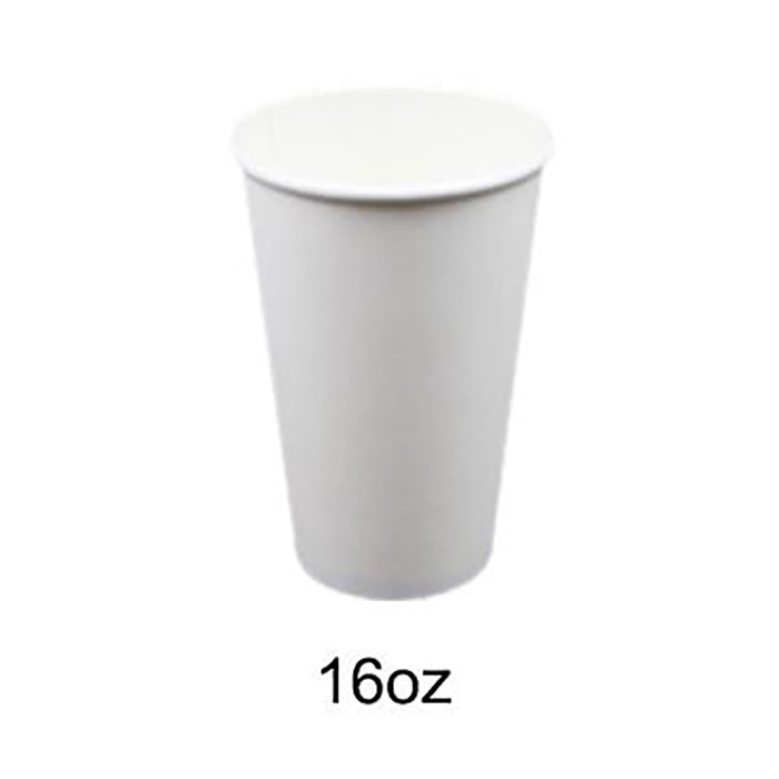 Disposable Paper Cups Coffee Takeaway 8 12 16oz Single Wall Drink Tea Water Bulk - Simply Homeware