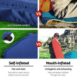 Camping Mattress Self Inflating Air Mat Sleeping Pad Bed Hiking Inflatable Bag