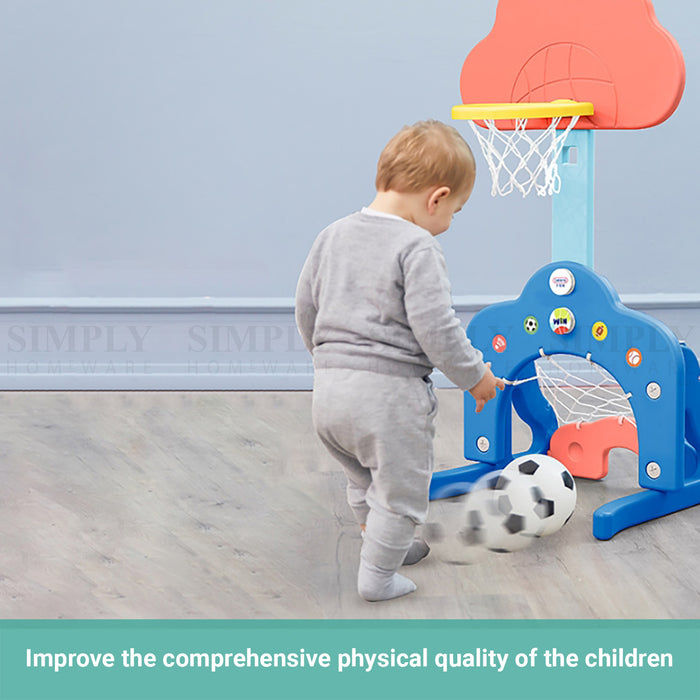 Truboo Kids Basketball Hoop 3 In 1 Sports Stand Activity Centre Adjustable