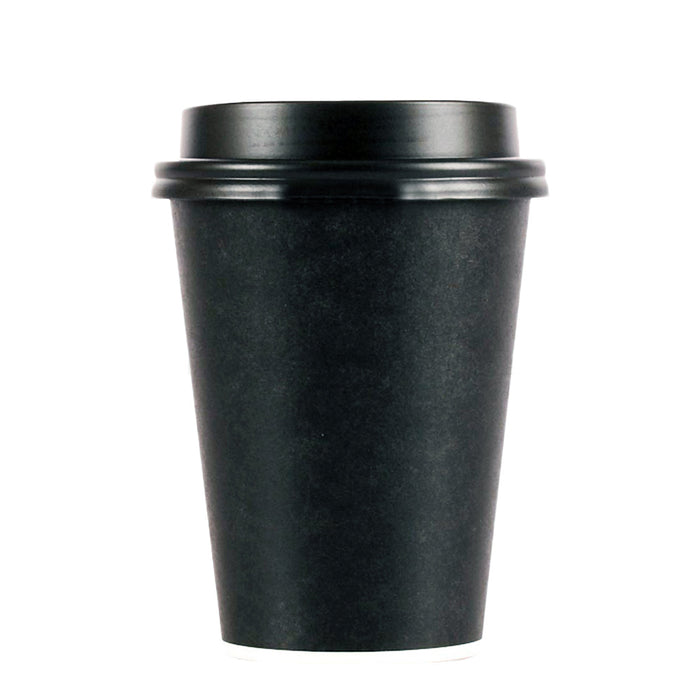 Pardy Disposable Coffee Cups 8oz 12oz 16oz Takeaway Paper Single Wall Black Bulk