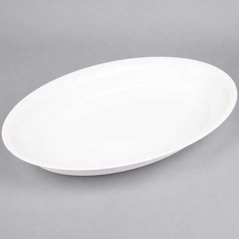 plastic serving tray white black oval platter trays catering large bulk 12x 24x