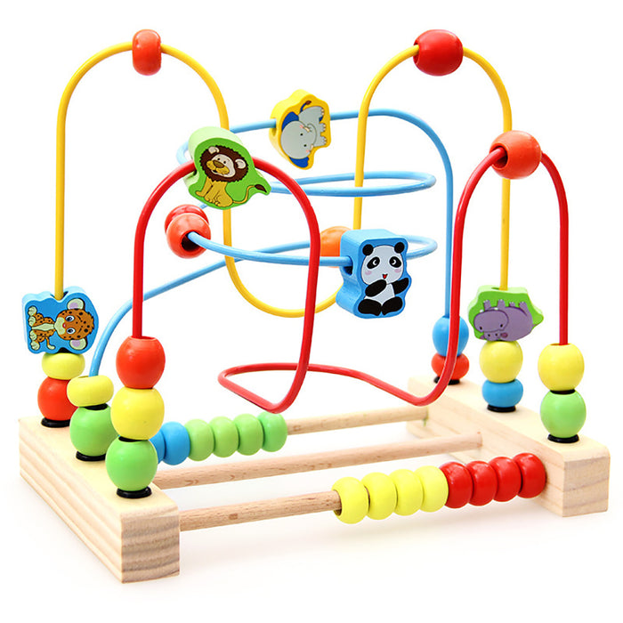 Truboo Wooden Bead Maze Educational Toy Kids Baby Activity Roller Coaster Wire