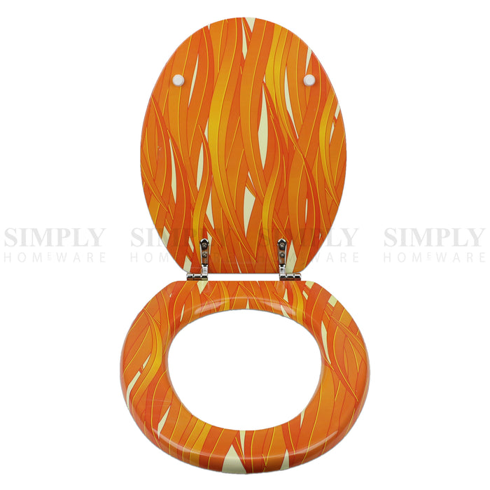 Toilet Seat and Cover Lid Designer Hard Bathroom Covers WC Bath Seat Lids - Simply Homeware