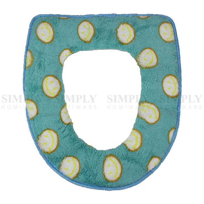 Toilet Seat Cover Soft Bathroom Warmer Bath Covers Seat Lid 2pcs Blue with dots, Bathmats, Rugs & Toilet Covers - Simply Homeware, Simply Homeware - 10