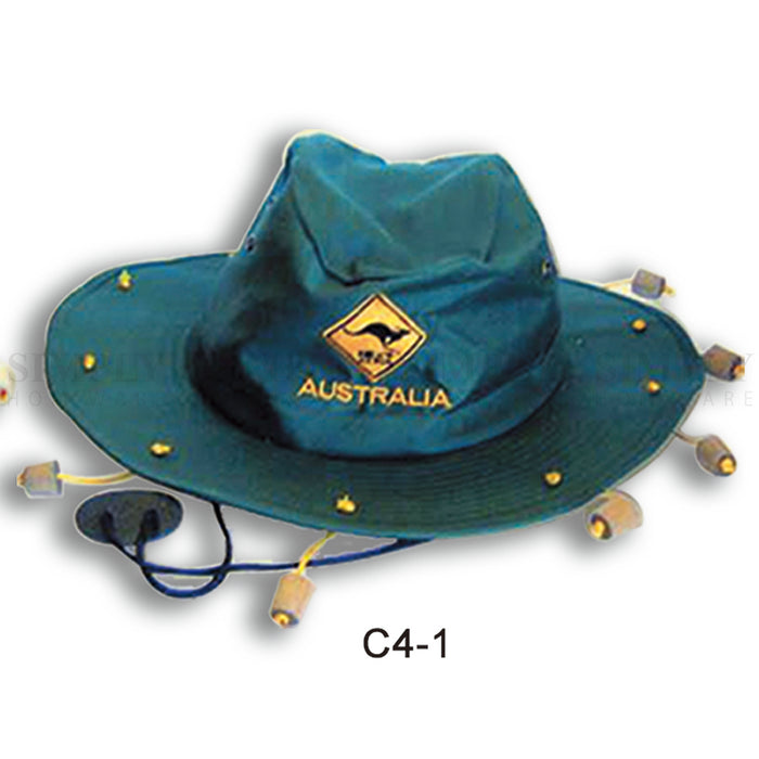 Australian Souvenirs Cork Hat Wide Brim Aussie Day Camping Safari Crocodile Gift - Simply Homeware