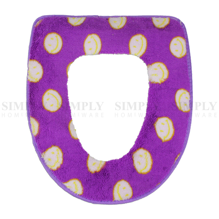 Toilet Seat Cover Soft Bathroom Warmer Bath Covers Seat Lid 2pcs Purple with dots, Bathmats, Rugs & Toilet Covers - Simply Homeware, Simply Homeware - 6