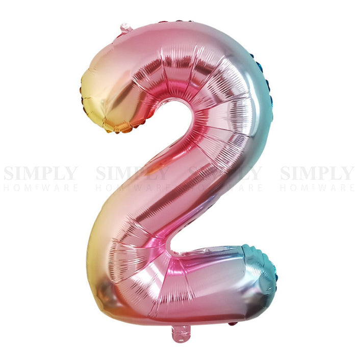 Balloons Numbers Letters Bulk Foil Party Birthday Anniversary Wedding Helium 1 2 - Simply Homeware