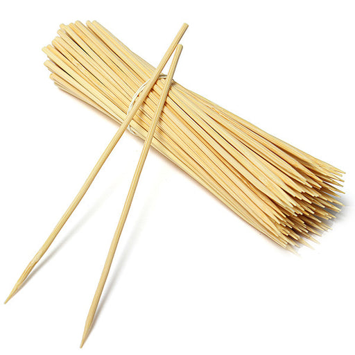 Bamboo Skewers 5mm Wooden Skewer BBQ Kebab Meat Bulk Cheap Stick Party - 25 30cm - Simply Homeware