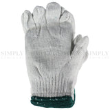 Bulk 12 Pair Safety Work Garden Gloves Cotton Extra Grip White Plain