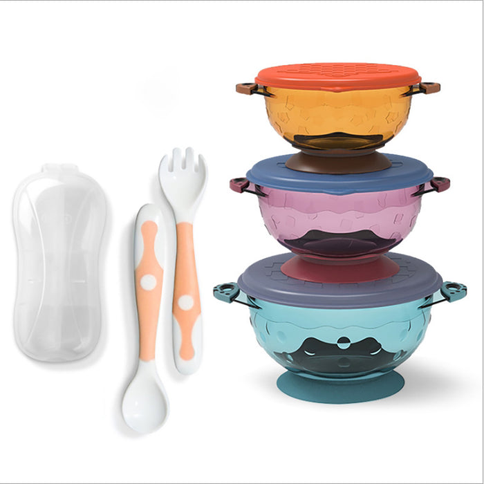Truboo Baby Suction Bowls Set With Bendable Spoons, Training Chopsticks Silicone