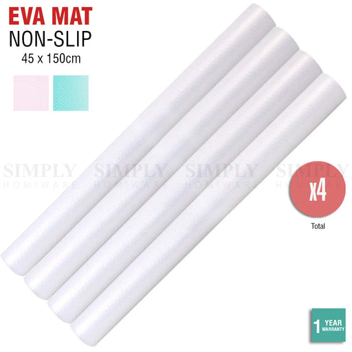 4x EVA Drawer Liner Non Slip Anti Mat Grip Roll Matting Cabinet Kitchen 45x150cm