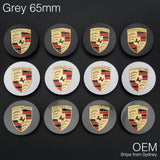 1x Grey 65mm Porsche Centre Wheel Caps OEM Logo Hub Emblem Tyre Cover Macan 95B