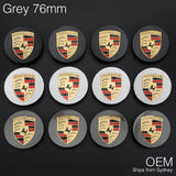1x Grey 76mm Porsche Centre Wheel Caps OEM Logo Cayenne 92A Boxster Cayman 911